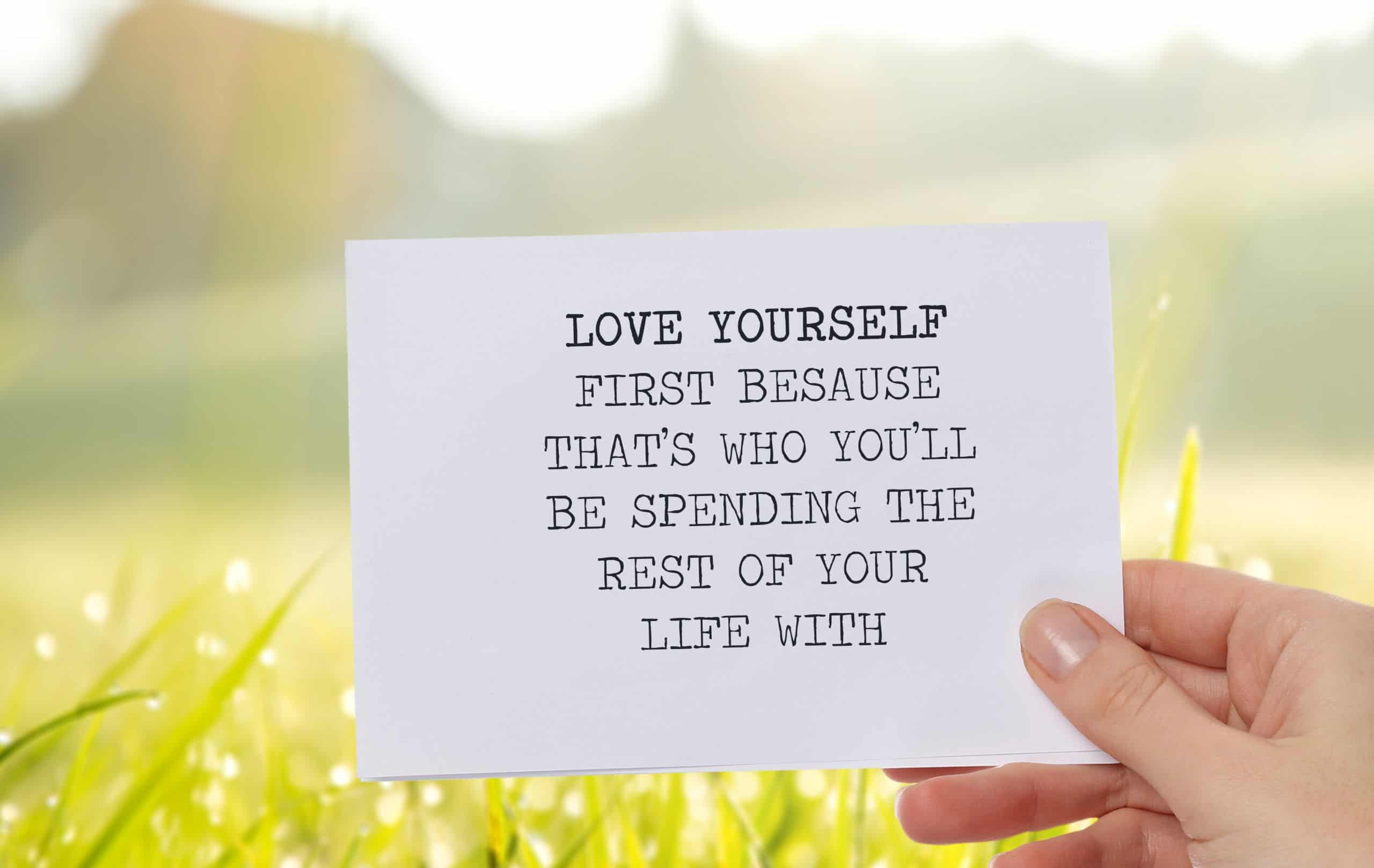 love yourself quote