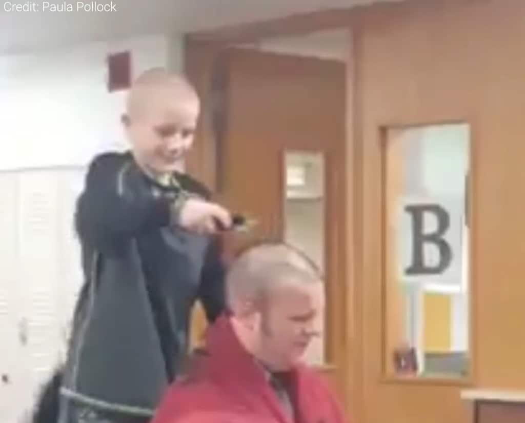 shaves head