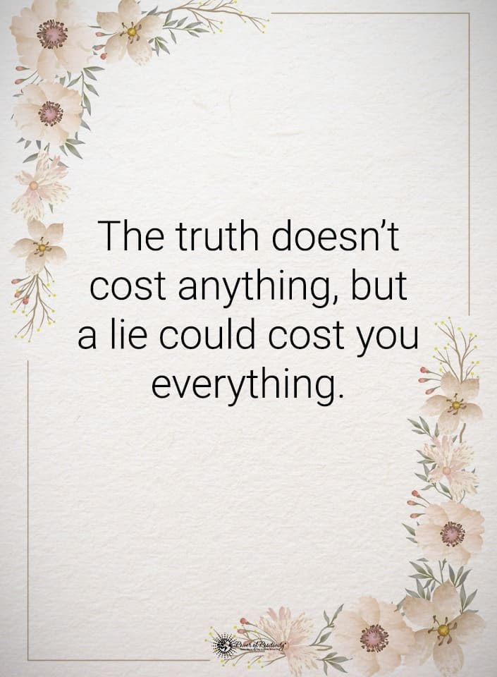 telling the truth