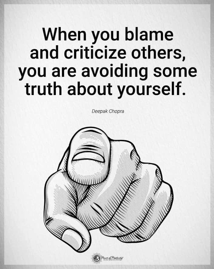 blame criticize others