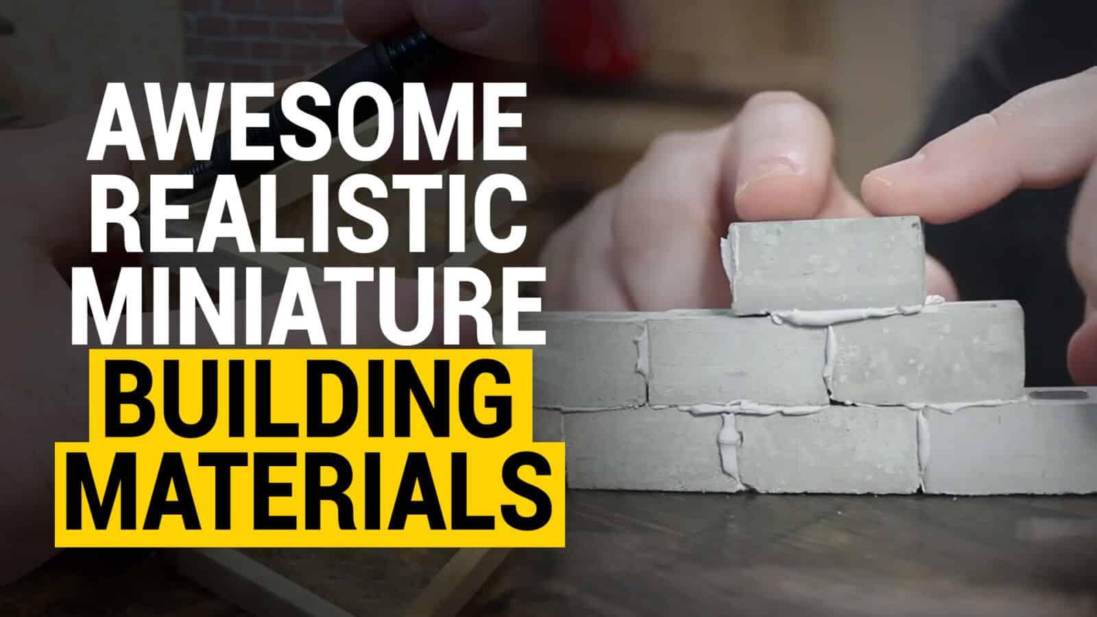 miniature building materials