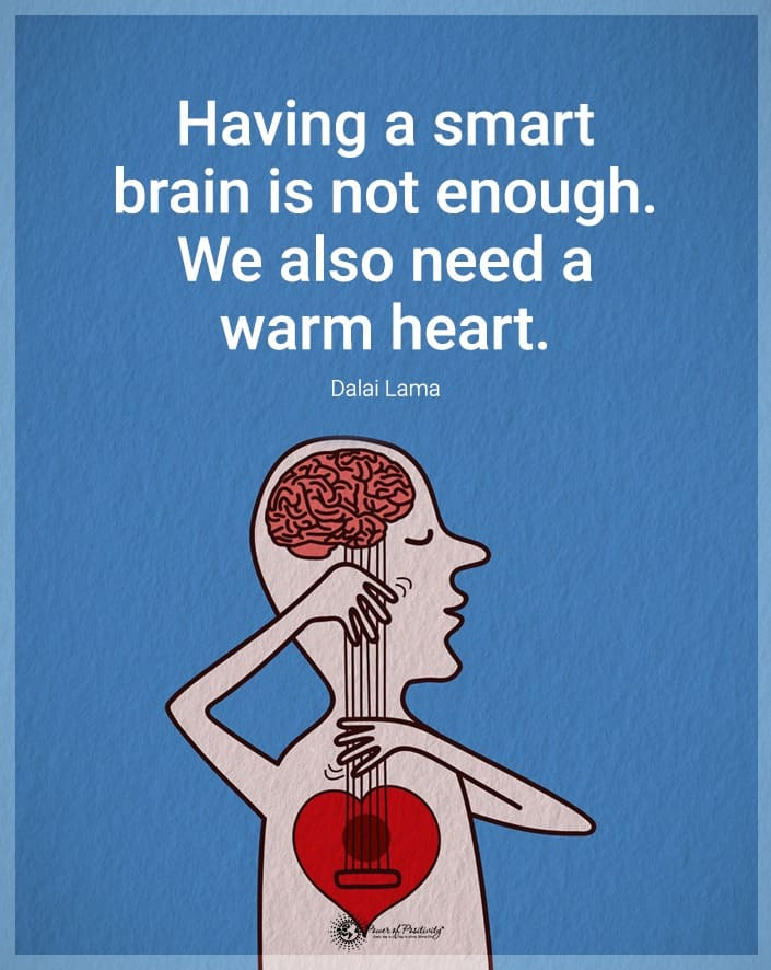smart brain warm heart meme