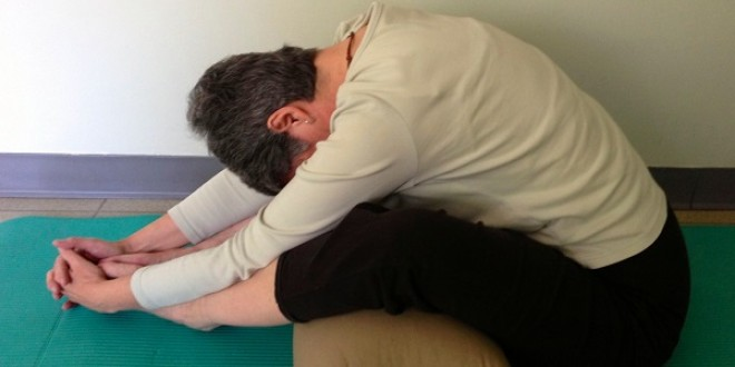 Restorative Yoga: Supported Seated Forward Bend
